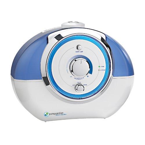 PureGuardian H1500 80-Hour Ultrasonic Warm and Cool Mist Humidifier, 1-Gallon