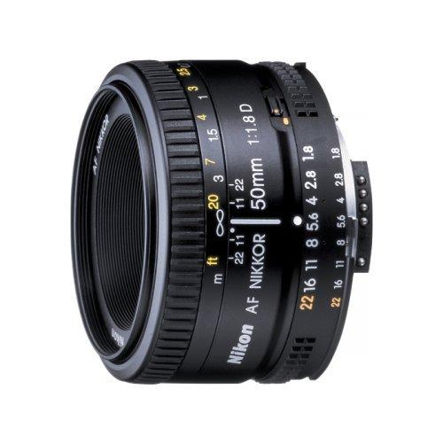 Nikon AF FX NIKKOR 50mm f/1.8D Fixed Zoom Lens with Auto Focus for Nikon DSLR Cameras