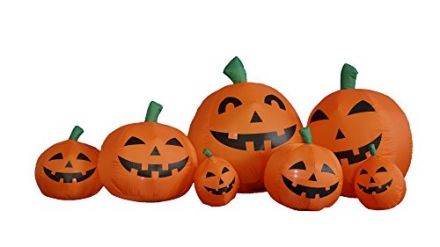 7.5 Foot Long Halloween Inflatable Pumpkins Yard Decoration