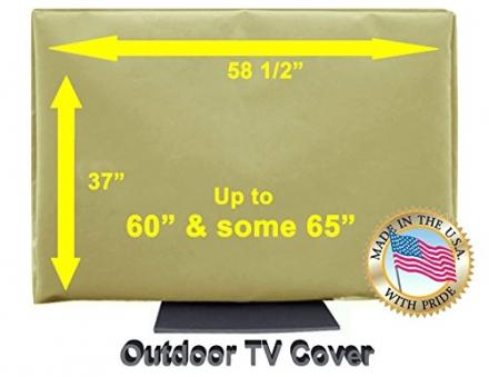 Outdoor TV Cover (60, Light Beige)