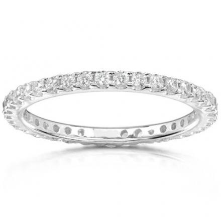 Diamond Eternity Band 1/2 carat (ctw) in 14K White Gold