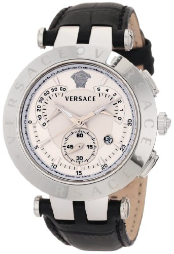 "Versace Men's 23C99D002 S009 ""V-Race"" Watch with Leather Band"