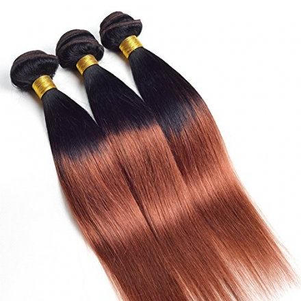 Ruiyu 6A Grade Ombre Hair Extensions Brazilian Hair 3 Bundles Straight 2 Tone Unprocessed Human Hair