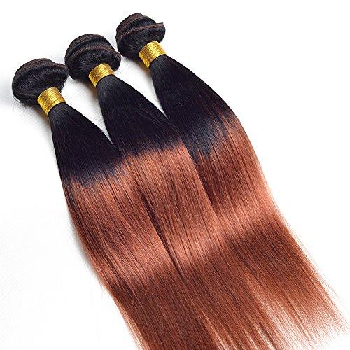 Ruiyu 6A Grade Ombre Hair Extensions Brazilian Hair 3 Bundles Straight 2 Tone Unprocessed Human Hair