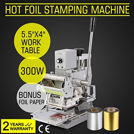 BestU Hot Foil Stamping Machine Bronzing Card Tipper for Paper Leather PVC etc with 2 Free Foil Pape