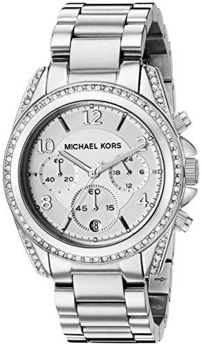 Michael Kors Women's MK5165 Blair Analog Display Analog Quartz Silver-Tone Watch