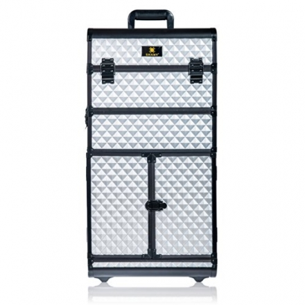 SHANY REBEL Series Pro Makeup Artists Rolling Train Case – Trolley Case – Metallic Bond