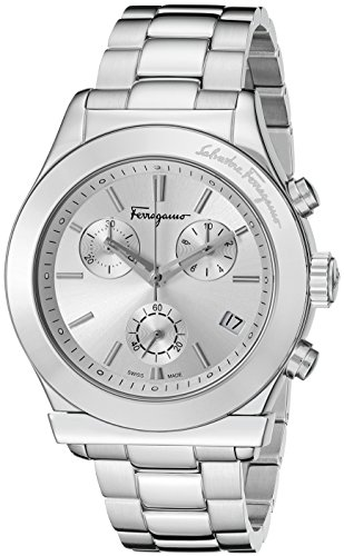 Salvatore Ferragamo Men's FF3860015 FERRAGAMO 1898 Analog Display Quartz Silver Watch
