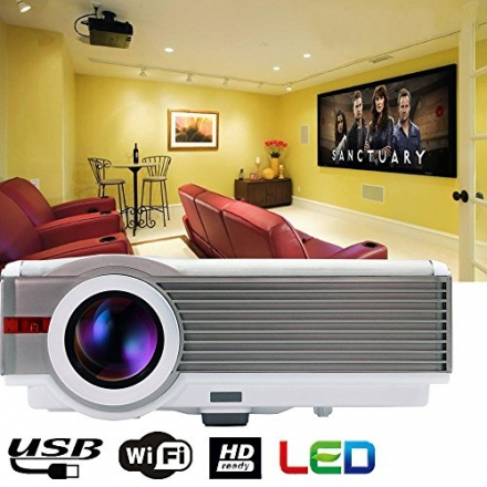 EUG Portable Wireless 1080p Full Hd Projector 3d LCD Image System Android Wifi Projector with Hdmi V