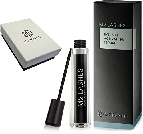 M2lashes Eyelash Activating Serum 5ML & M2Beaute Gift Box | Most Powerful Eyelash Growth Serum , bas