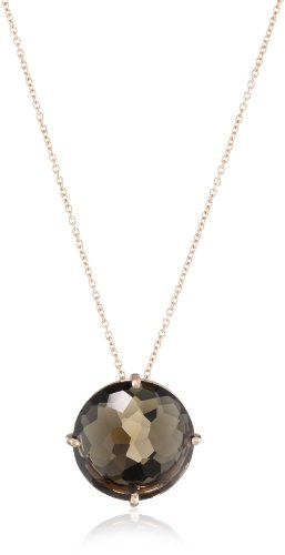 Kalan by Suzanne Kalan Round Smokey Quartz Necklace