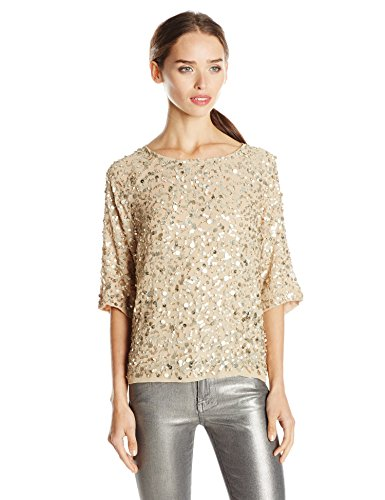 Nicole Miller Women's Seashell Sequin Top