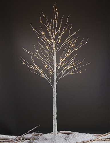 Lightshare™ NEW 8FT 132L LED Birch Tree,Home/Festival/Party/Christmas,Indoor and Outdoor Use,Warm
