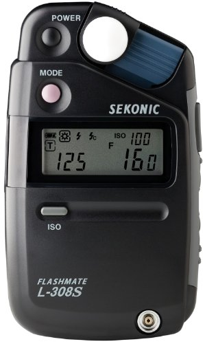 Sekonic  L-308S 401-309 Flashmate Light Meter Digital (Black)
