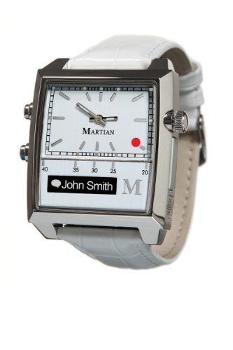 Martian Watches Passport SmartWatch (White/Silver/White)