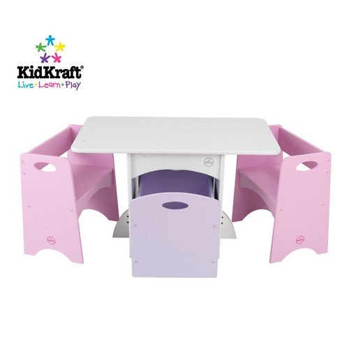 KidKraft Table with Pastel Benches