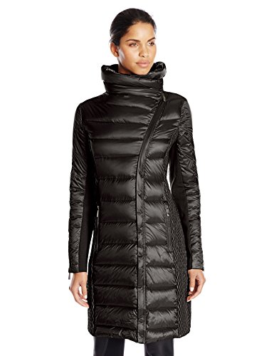 BCBGMAXAZRIA Women's Asymmetrical Zip Down Coat