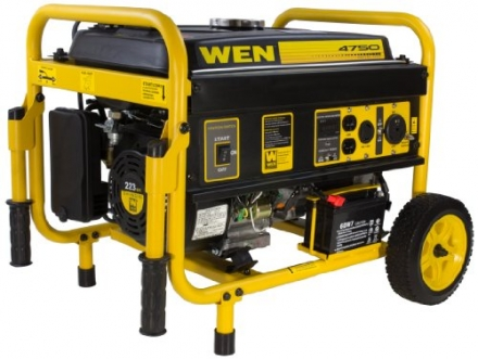WEN 56475 4750-Watt Generator with Electric Start and Wheel Kit, CARB Compliant