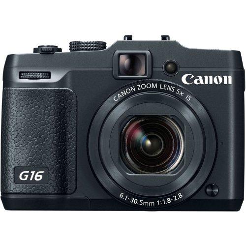Canon PowerShot G16 Digital Camera w/ 12.1 MP 1/1.7 Inch Sensor &  Wi-Fi Enabled
