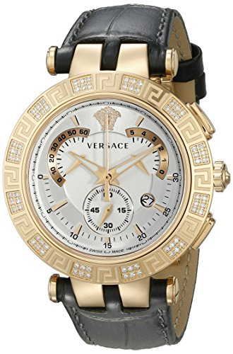 Versace Men's 23C82D002 S009 V-RACE CHRONO Diamond-Accented Rose Gold Ion-Plated Watch