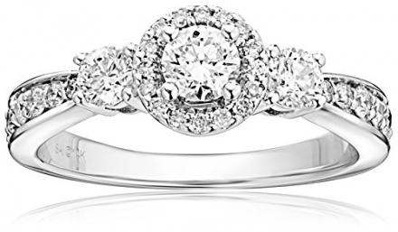 14k White Gold 1 cttw Diamond Anniversary Ring (H-I Color, I2 Clarity)
