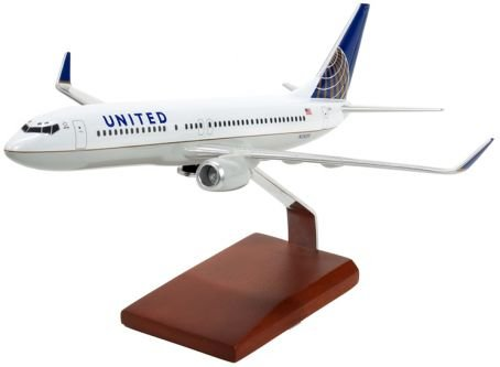 Boeing B737-800 Continental/United Handcrafted Quality Desktop Airplane Model Display / Medium-range