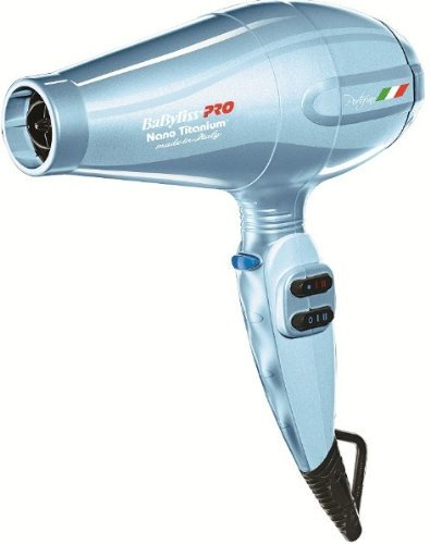 Babyliss 2000 Watt Nano Titanium Portofino Hair Dryer with ITALIAN AC Motor with Bonus Attachments I