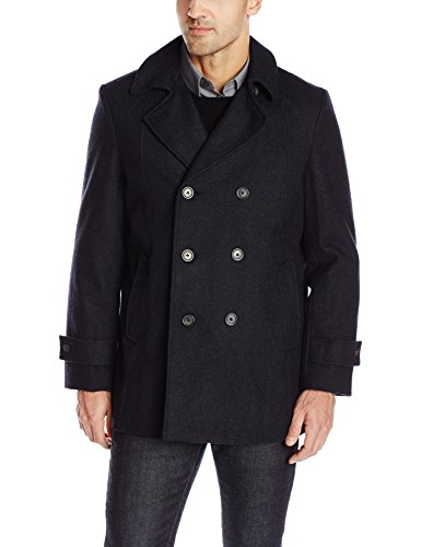 Tommy Hilfiger Men's Brady 33 Inch Double Breasted Pea Coat