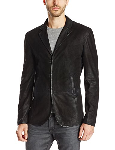 John Varvatos Men's Slim-Fit Leather Blazer Jacket