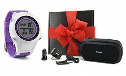 Garmin Approach S2 GIFT BOX | Includes Golf GPS Watch, Case, Wall & Car Charge Adapters (Purple)