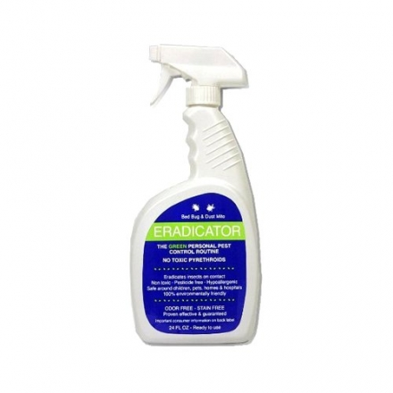 Bed Bug, Dust Mite ERADICATOR 24oz ready to use spray, natural solution that safely removes bugs, sc