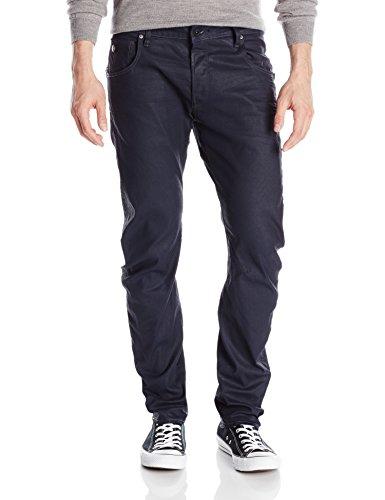 G-Star Raw Men's Arc Zip 3D Slim Fit Jean In Blue Print Stretch Denim Dark Aged