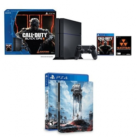 PlayStation 4 500GB Console – Call of Duty Black Ops III Bundle with Star Wars: Battlefront & Steelb