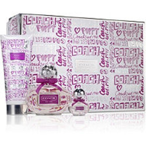 Coach Poppy Flower 3 Pc. Gift Set 3.4oz and 0.17oz Eau De Parfum Spray and 3.4oz Body Lotion