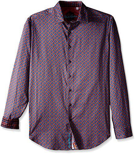 Robert Graham Men's Tall Falkirk Wheel Long Sleeve Button-Down Shirt