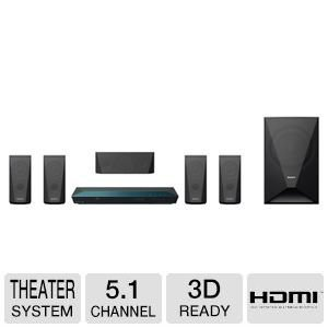 Sony 5.1 Channel Blu-ray Home Theater System with Bluetooth (Set of Six, Black)
