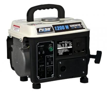 Pulsar PG1202S, 900 Running Watts/1200 Starting Watts, Gas Powered, Portable Generator