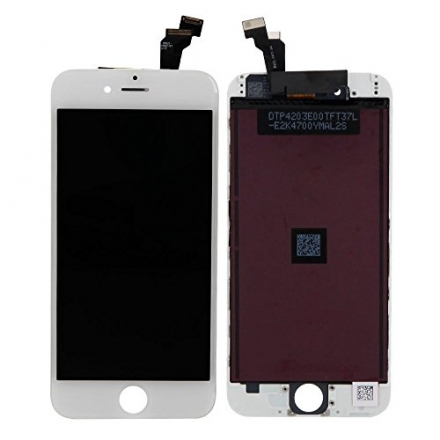 Full LCD Touch Screen Digitizer Assembly Replacement, LCD Screen Replacement for iPhone 6 (White)