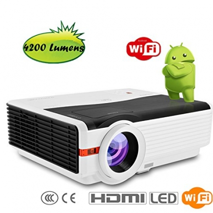 CAIWEI Full High Definition Projector Wireless Home Theatre Business Education Projector 1080P 4200