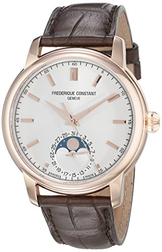 Frederique Constant Men's FC715V4H4 Classics Analog Display Swiss Automatic Brown Watch