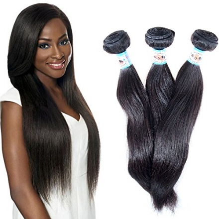 #1 Best Seller STRAIGHT 6A Virgin REMY Hair ALL Texture Available Brazilian 3 Bundle Pack Add 4th Bu