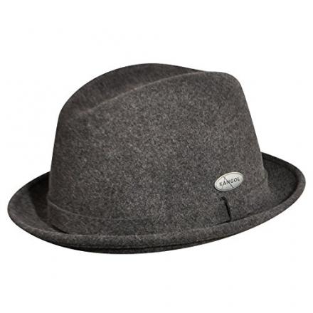 Kangol  Men's Lite Felt Player Hat,Dark Flannel,X-Large