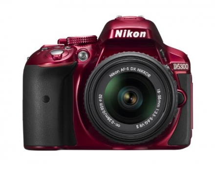 Nikon D5300 24.2 MP CMOS Digital SLR Camera with 18-55mm f/3.5-5.6G ED VR II Auto Focus-S DX NIKKOR