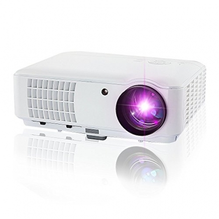 iHomor 2600 Lumens Hd LCD LED Video Projectors Multimedia Home Projector with HDMI/USB/AV/VGA, 1280x