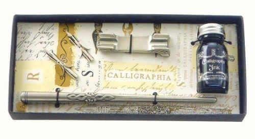 Manuscript Gift Set: Pewter Pen/Rest & Nib
