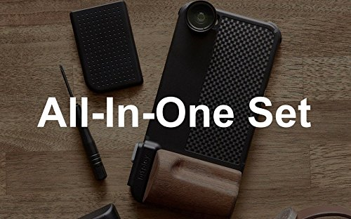 bitplay All-in-One Set SNAP! PRO iPhone Case (Black) / Including SNAP! PRO + 6 Add-on Lenses (Wide A