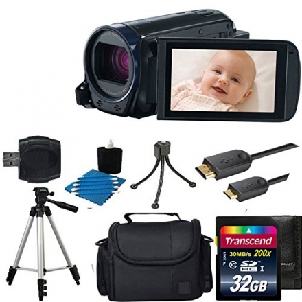Canon VIXIA HF R600 Full HD Video Camcorder (Black) With Case + 32GB Class 10 Memory Card With All Y