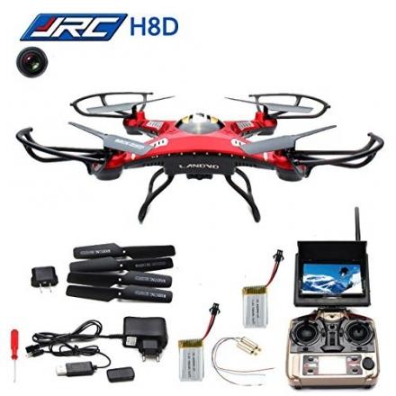 LANDVO JJRC H8D FPV Headless Mode RC Drone RTF 5.8G 2MP HD Camera + 2Pcs 7.4V 500mAh Battery Design