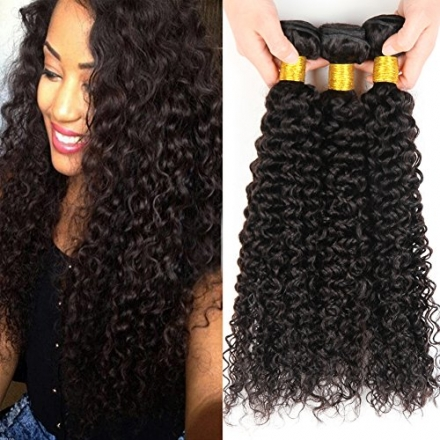Malaysian Curly Hair 3 Bundles 100% Unprocessed Curly Hair Weave Human Hair Extensions 300g Total Fu
