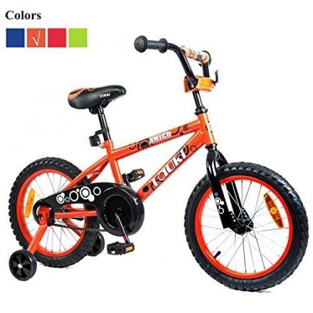 Tauki 16 Inch Kid Bike BMX Bike with Removable Training Wheels, Boy's Bike, Girl's Bike, Kid's Gift,